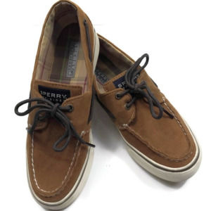 Sperry TopSider  Brown Corduroy Lace Boat Shoes
